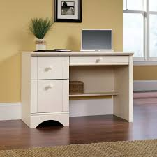 Large White Desk With Drawers Tables South Shore Gascony Computer Desk One Drawer One File