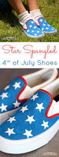 diy star spangled 4th of july shoes happiness is homemade