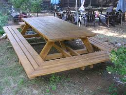 Plans To Build A Hexagon Picnic Table by Custom Made Picnic Tables Large Thru Bolt Picnic Tables