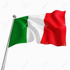 Italain Flag 3d Italian Flag Isolated On White Background Lizenzfreie Fotos