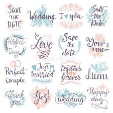 wedding greeting cards quotes typography save the date quote text logo badge design