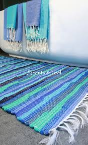 green recycled cotton bath rug