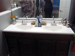 how to refinish bathroom cabinets refinishing bathroom vanity youtube