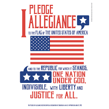 I Pledge Of Allegiance To The Flag Pledge Of Allegiance Classroom Poster Eureka