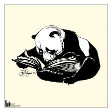 drawing panda bears with a pentel brush pen
