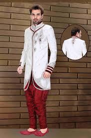 buy groom indo western sherwani online india off white sherwani