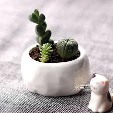 Small White Vases Bulk Small Flower Pots Wedding Favors Creative House Concrete Small