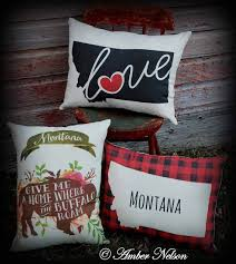 Buffalo Home Decor Love For The Big Sky Montana Home Decor Amber Nelson Folk Art