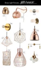 brass light fixtures on any budget under 100 decor details