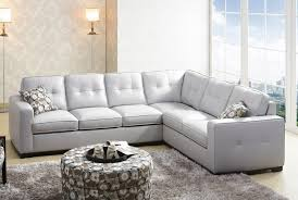 Gray Microfiber Sectional Sofa by Light Grey Sectional Sofa Casual Natural Light Clean Lines And