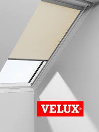 velux blackout blinds easy fit quality roof window roller in white