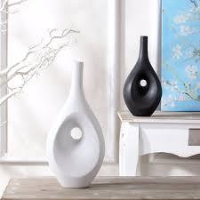 vase home decor tabletop flower vase home decor contemporary black white ceramic