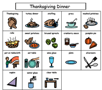 thanksgiving turkey dinner boardmaker pictureset sub category
