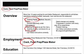 funny resume examples the 25 funniest job resumes of all time