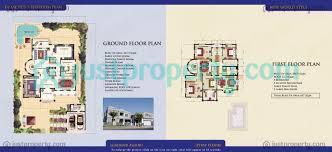 detached villas floor plans justproperty com