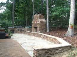 patio ideas stone outdoor fireplace with flagstone patio and