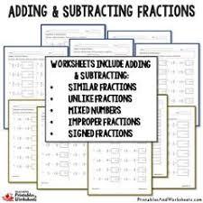 5th grade subtracting fractions worksheets printables u0026 worksheets