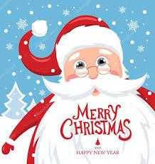 imagenes de santa claus feliz navidad santa claus con letras feliz navidad vector de stock igor vkv