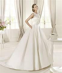 wedding dress with pockets line scoop neck keyhole back lace satin wedding dress with pockets