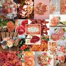 autumn wedding wedding colours peach coral burgundy