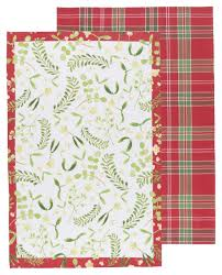 now designs kitchen towels now designs tea towels mistletoe set of 2