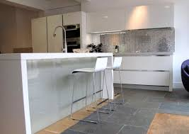 ex display white gloss euromobil kitchen island silestone