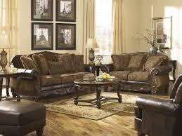 3 Piece Living Room Table Sets Signature Design By Ashley Fresco Durablend Antique Brown 3 Piece
