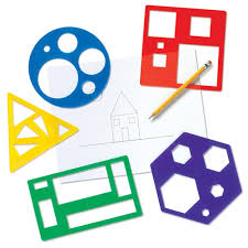 amazon com learning resources primary shapes template set toys