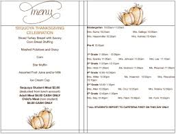 elementary thanksgiving activities thanksgiving luncheon menu times and activities u2013 sequoya
