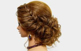 Easy Down Hairstyles For Medium Hair by Hairstyle For Long Hair Tutorial Prom Updo With Braid Youtube
