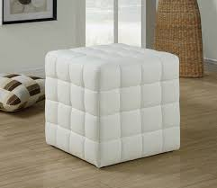 Soft Ottoman 25 White Leather Ottomans Square Rectangle