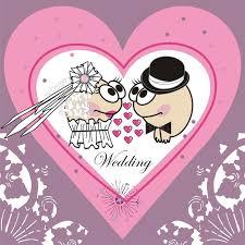 invitation wedding card animated cartoon stock vector