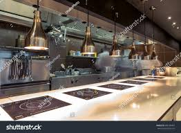 Restaurant Kitchen Designs Restaurant Kitchen Interior Bar Counter Made Stock Photo 686189497