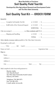 soil report sample soil quality test kit ohioline directions for use