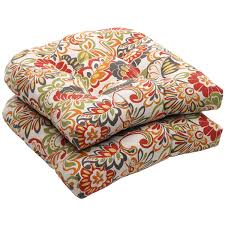 Patio Furniture Seat Cushions by Amazon Com Pillow Perfect Indoor Outdoor Multicolored Modern