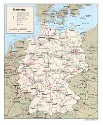 Road Map Of Texas Detailed Administrative And Road Map Of Germany Germany Detailed