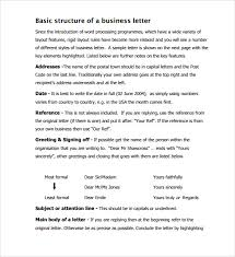 business letter template 11 free documents to download in pdf