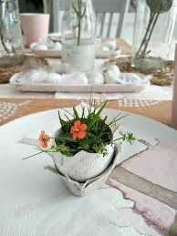 Easter Table Setting Simple Easter Table Setting For Two Kreativk
