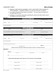 Free Vehicle Bill Of Sale Form Free Printable by Alberta Bill Of Sale Form Free Templates In Pdf Word Excel To