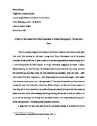 themes in the story the lottery eng4393 thesis writing for literature in english university of