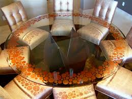Glass Dining Room Table Tops Bubbly Glass Dining Table 3d Carved And Painted Glass By Sans