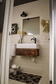 bathroom rustic bathroom vanity with unique styorage door and