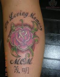 in loving memory of mom pink rose tattoo design picture tattoomagz