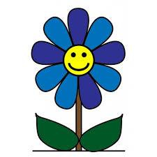 fiori disegni disegno di fiore con sorriso a colori per bambini