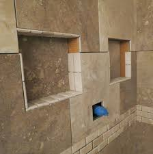 bathroom shower niche ideas kitchen backsplash niche for enchanting and design tile ideas