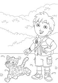 Diego Go Coloring Pages Go Diego Go Coloring Pages