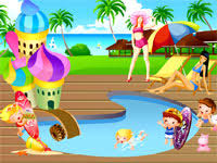 pool party dress up game games for girls