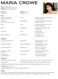 Best Acting Resume Font by Actors Resume Template