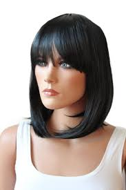 jet black short hair buy prettyshop fashion lady wig short hair bob page heat resistant