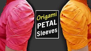origami petal sleeves designs for kurti sleeves designs for